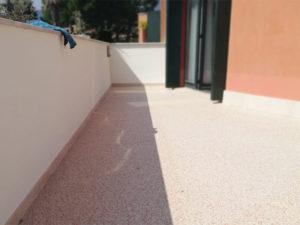 pavimenti drenanti in graniglie di marmo e resina